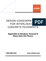 Design Considerations Interlocking Pavements