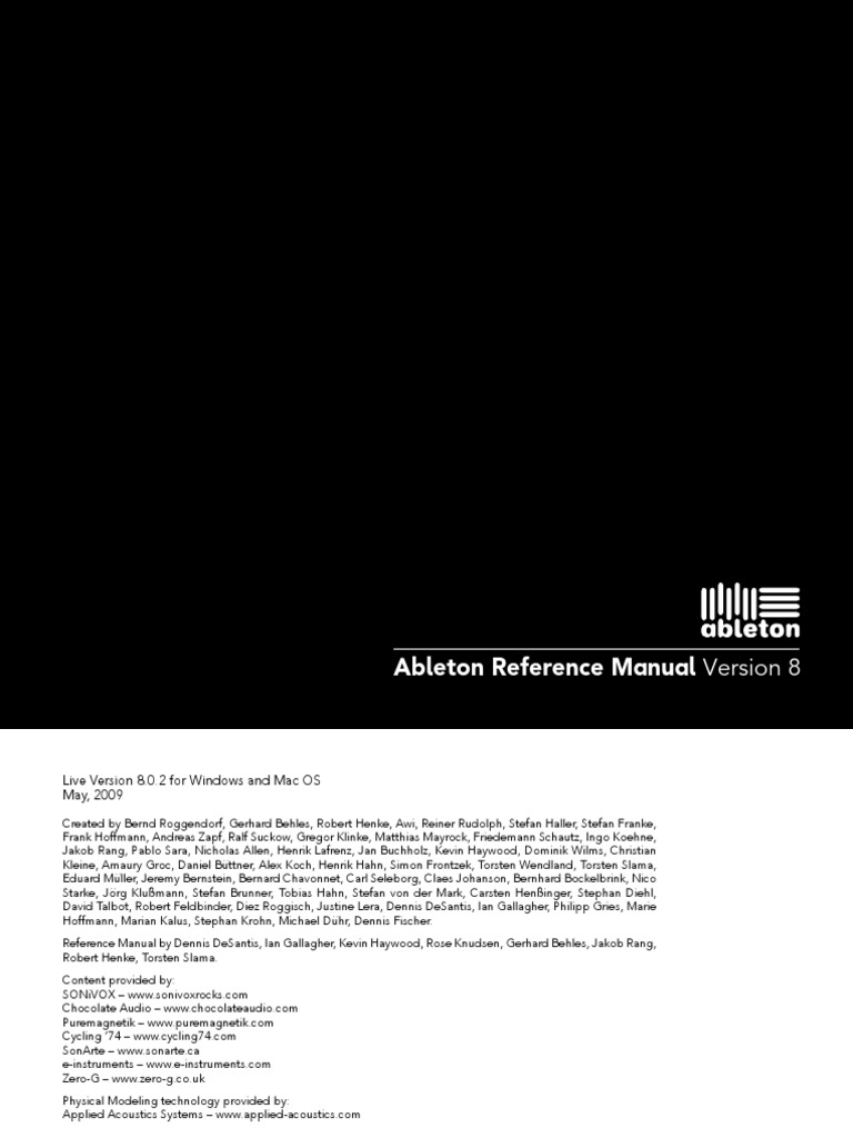 ableton multiband compressor manual