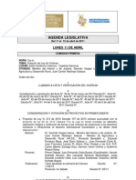Agenda Legislativa 11 Al 15 de Abril 2011-1