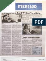The Merciad, Jan. 23, 1986