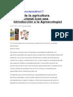 La Crisis de La Agricultura Convencional