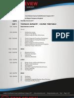 London Core Review Course 2011 - Timetable