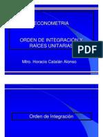 Orden de Integracin y Races Unitarias