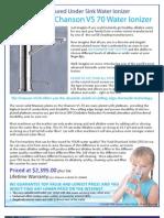 Chanson VS-70 Water Ionizer