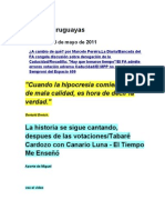 Noticias uruguayas 25 mayo 2011