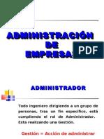 Conceptos de Admin is Trac Ion y Organizacion de Empresas