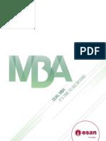 Brochure del Dual MBA 2011 de ESAN