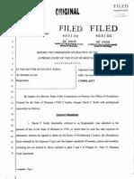 David Rodli Disciplinary Complaint