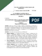 LEY DE DEMARCACIÓN Y GARANTÍA DEL HÁBITAT Y TIERRAS DE LOS PUEBLOS INDÍGENAS