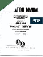 Kearney and Trecker Installation Manual