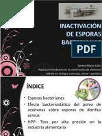 Inactivacion de Esporas Bacterianas-Tecnología de alimentos