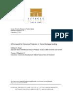 Framework for Consumer Protection in Home Mortgage Lending 9-2010