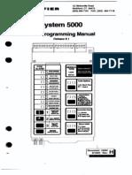 Fire Notifier 5000 Sys Program Manual