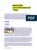 Presentation Culturelle Et Artisan Ale Du Togo
