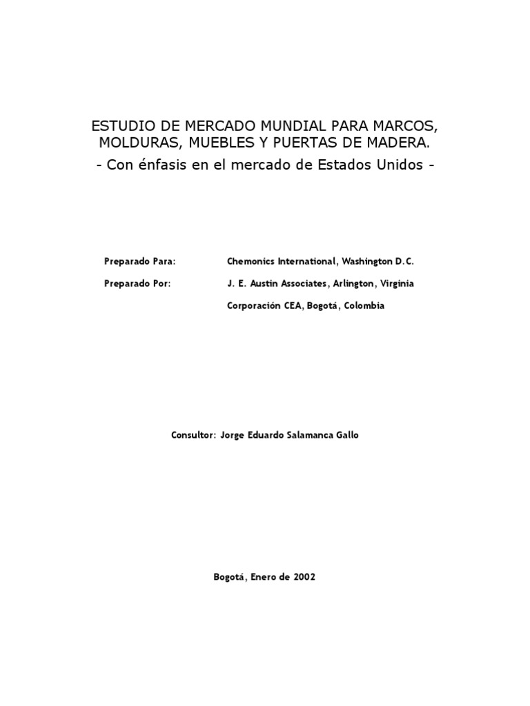 Estudio de Mercado Madera