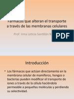 Unidad 2 Farmacos Que Alteran El Transporte de Membrana