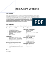 Design a Client Website