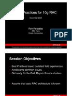 RAC Best Practices - RAC SIG 9Dec05[1]