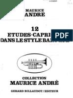 12 Etudes Caprices Dans Le Style Baroque - Maurice Andre