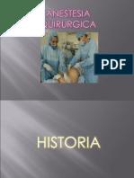 ANESTESIA QUIRURGICA