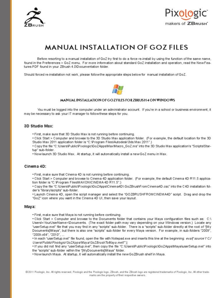 GoZ Manual Install   Adobe Photoshop   Finder (Software)