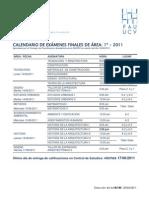 Calendario de exámenes sectoriales FAU UCV 1-2011
