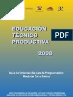Educacion Tecnico Productiva Etp 2010