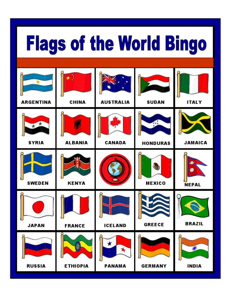 It is an image of Revered Flags of the World Printable Pdf