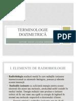 Terminologie dozimetrică