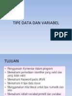 (2) Tipe Data Dan Variabel