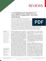 2010 Krol. the Widespread Regulation of MicroRNA Bio Genesis, Function and Decay.