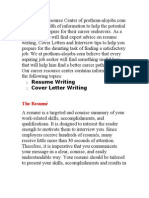 CV and Cover Letter Writing Tips