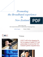 Brett O'Riley, NZ ICT, Promoting the Broadband Experience in New Zealand