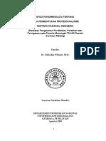 S3 Studi Fenomenologi Tentang Pola Pembentukan Profesionalisme Tni Muhadjir