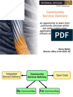 Danny Mollan, NZGCIO, Community Service Delivery