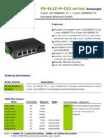 IndustrialEthernetSwitch(FS-411Z-M-C02 Series) Datasheet Ver 1.1