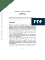 Calculus of extensive quantities