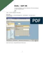 SAP Hr Stepwise Screen Shots