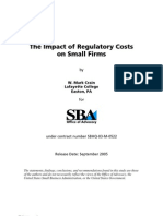 US Small Business Administration (SBA) Regulatory Impact on Small Business (2005)