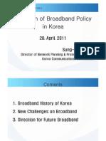 Sung-Wook Hur, KCC, Evolution of Broadband Policy in Korea