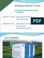 Ashok Leylandproject Ppt