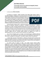 Peticao Pela  Formação Autónoma dos Professores de Historia e Geo