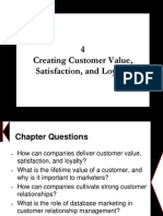 Chapter 4 - Creating Customer Value, Satisfaction, And Loyalty