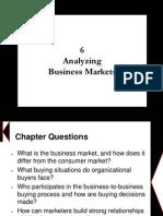 Chapter 6 - Analyzing Business Markets