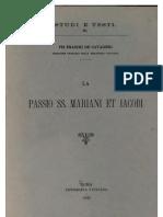 Pio Franchi de'Cavalieri, La Passio SS. Mariani et Iacobi (Studi e testi, 3), Roma 1900