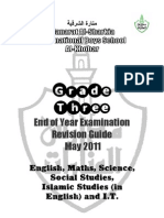 G3 End of Year Revision Guide [May 2011]
