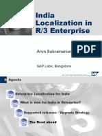 India Localization in Enterprise Release
