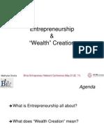 BENCON '11 - Entrepreneurship & Wealth Creation