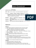 Ahmad Ghandour  CV
