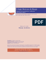 Colegio Mexicano de Massagem - Manual Ayurveda 2006